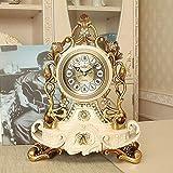 Sweety Europäischen Uhr kreative stumm Uhr Persönlichkeit sitzen Uhr Wohnzimmer grossen Pendel Quarz dekorative Tisch clo CK (28 * 22 * 12,5 cm) Kaminuhren,