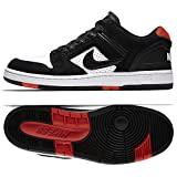 Nike SB Air Force II Low, Sneakers Basses Homme, Multicolore Black/White/Habanero Red...
