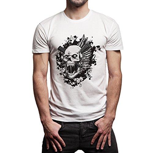 Skull Mad Black Herren T-Shirt Weiß