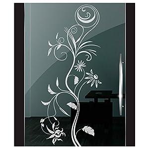 DD Dotzler Design 2111-12 Fenster Milchglas Motiv Blume modern floral Blumen Milchglasfolie Glas Aufkleber Sichtschutz
