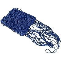 PIXNOR Red de pesca estilo mediterráneo para decoración , pesca red Luau fiesta cuadros (azul