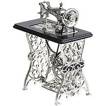 MagiDeal 1:10 Modelo de Máquina de Coser de Aleación Mano de Obra en Miniatura
