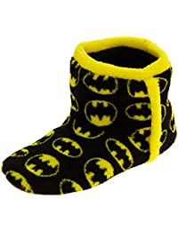 Batman Unisex-niño Fleece Botas Zapatillas