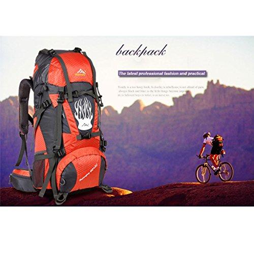 Outdoor-Klettern Tasche mit großer Kapazität Outdoor-Camping-Wander-Rucksack Orange