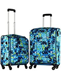 3b83767da Timus Indigo Spinner 4 Wheel Strolley Suitcase Set of 2 Expandable Check-in  Luggage