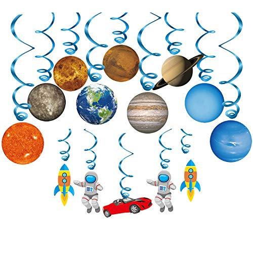 Konsait Sistema Solar Decoración Colgante remolinos (14Pack), Adornos de espirales serpentinas para...