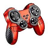 Gamepad Inalámbrico 2.4G: Controlador con Joystick De Vibración Dual Turbo De Retardo Cero para Android/Joypad/Pc / Ps3 / TV Joystick (Rojo, Azul),Rojo