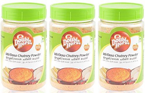 Double Horse Idli/Dosa Chutney Powder (100 grams, Pack of 3)