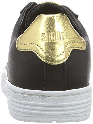SHOOT Sh215067p, Baskets Basses femme Noir - Schwarz (black multi Leo Muster)