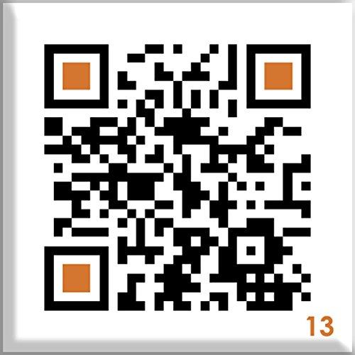 QR Code Button mit Anstecknadel - mit Smartphone einscannen und Überraschungsbotschaft erhalten: FAULPELZ / LAZYBONES