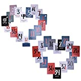 Milestone Cards - Die original Babycards von Milestone - 30 Fotokarten (Tarjeta de bebé: 20 hojas, Tarjeta de momia: 18 hojas)