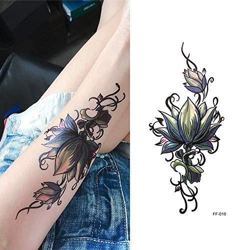 Mrkal sexy piuma nera lettera tatuaggio temporaneo classico tatuaggio nero impermeabile falso tatuaggio temporaneo adesivo art tattoo 20x15cm4ps