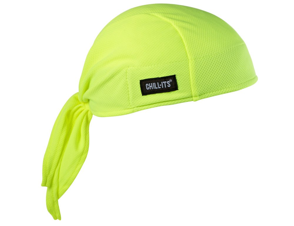 TWO Ergodyne 12481 Chill-Its 6615 High Performance BLUE Dew Rag NEW!