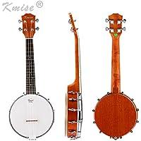 Kmise 4 cuerdas Banjo ukelele UKE ukelele Banjo lele concierto tamaño de 23 pulgadas Sapele madera