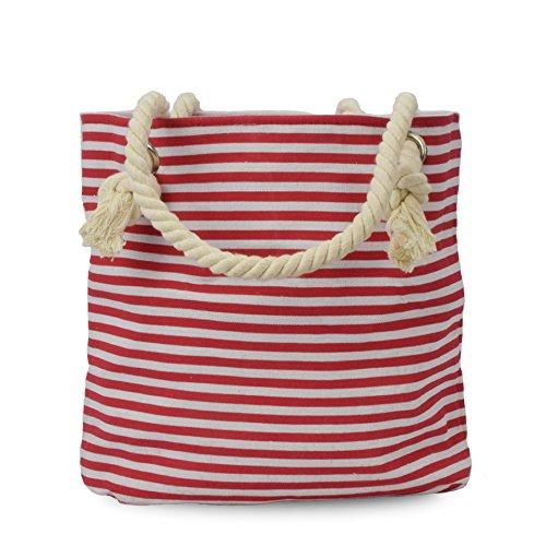 Sonia Originelli Xs Shopper St.pauli Borsa Shopper Coordinate Colore Rosa-navy Rosso-navy