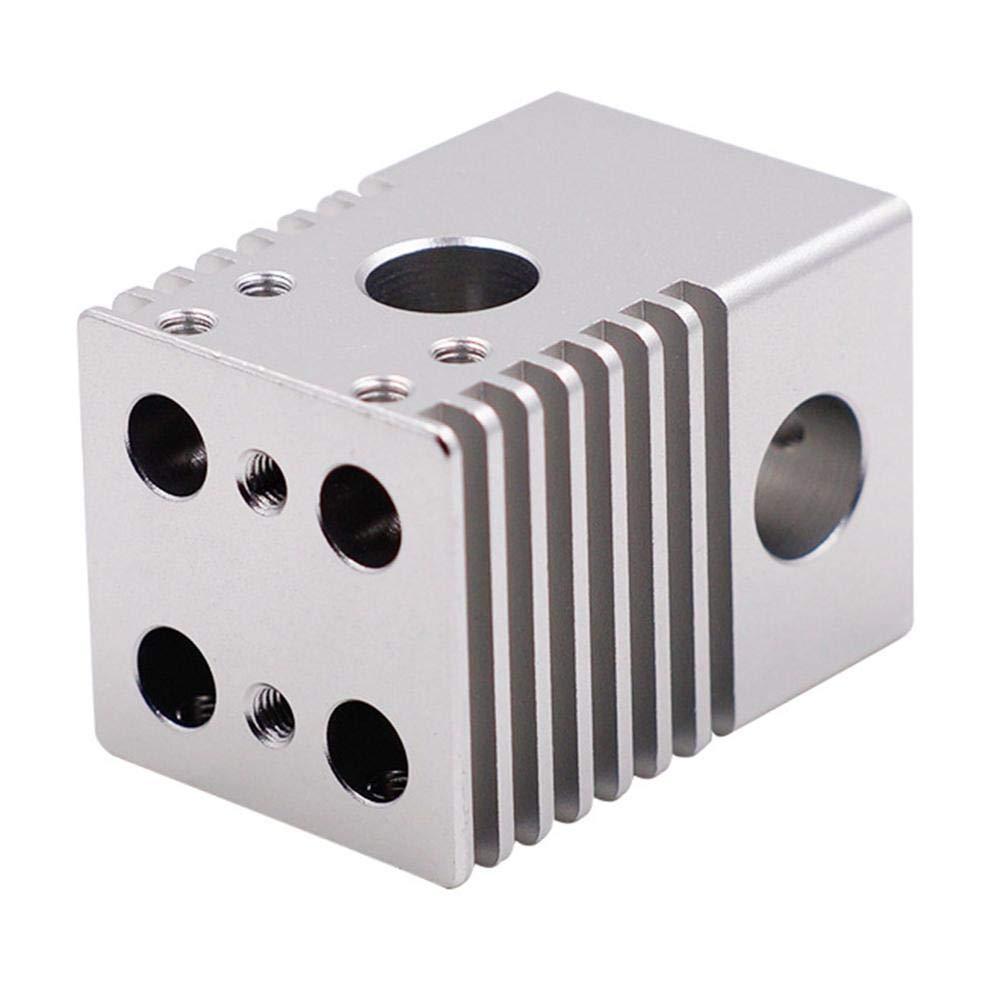 createjia Buse d'Imprimante 3D Accessoires Tête d'Extrusion Multi 4 Buse Multiples à Glissière Transversale en Alliage D'Aluminium pour Ultimaker 2 Imprimantes 3D