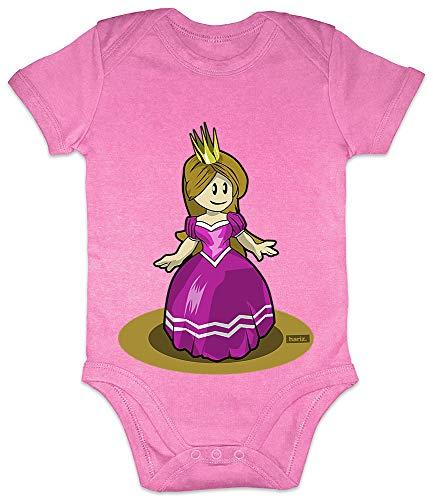 Bubblegum Kostüm Prinzessin - HARIZ Baby Body Kurzarm Prinzessin Tanzen Lachen Karneval Kostüm Plus Geschenkkarte Bubblegum Pink 0-3 Monate