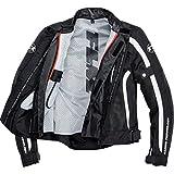 FLM Motorradjacke Motorradschutzjacke Sports Damen Textil Jacke 1.1 schwarz/weiß S