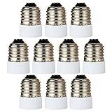 GreenSun Lampensockel Adapter Lampenfassung Konverter E27 Fassung auf E14 Lampensockel für LED Halogen Energiespar Lampen 10 Stück