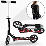Kinetic Sports Scooter Cityroller Kinderroller Tretroller Kinetic Sports Klappbar 205 mm XXL Räder in Schwarz