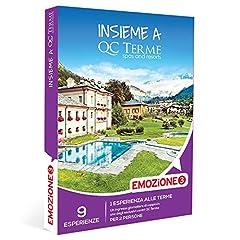 Idea Regalo - EMOZIONE3 - Insieme a QC Terme - Cofanetto Regalo Benessere - 1 ingresso giornaliero presso un centro QC Terme per 2 persone