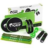 HerculesGrip - 4 in 1 Home Gym Trainer Set für Ganzkörper- und Kardio-Training (8-teilig)
