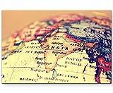 Paul Sinus Art Leinwandbilder | Bilder Leinwand 120x80cm Ausschnitt Globus Indien