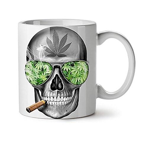 Squelette Fumée Cannabis Cool NOUVEAU Blanc Thé Café Céramique Tasse