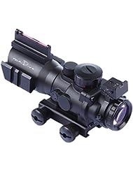 Minidiva 4x32 mm Portée avec tactique Rouge Vert Bleu Points 3 Luminosité Portée fibre optique