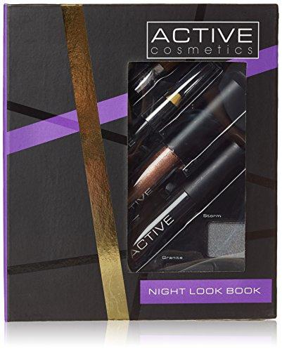 Active, Set di cinque ombretti, eye liner nero, lucidalabbra e mascara nero