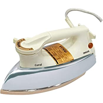 Inalsa Coral 1000-Watt Electric Iron (SS/Opal White)