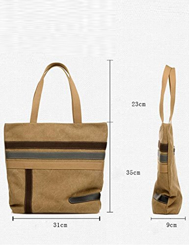 Frauen-Segeltuch-Einkaufstasche Einkaufstasche Beiläufige Schulter-Handtasche Große Kapazitäts-Dame Bag Gray