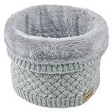 ANSUG Bufanda de punto unisex, Bufanda gruesa de abrigo de invierno para el cuello y la piel de invierno Bufanda para hombre y mujer