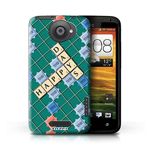 Kobalt® Imprimé Etui / Coque pour HTC One X / Lutte Incendie conception / Série Mots de Scrabble Jours Heureux