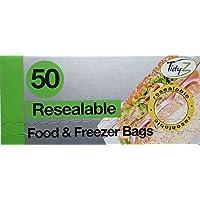 100Sacchetti per alimenti e Freezer richiudibile/2confezioni da