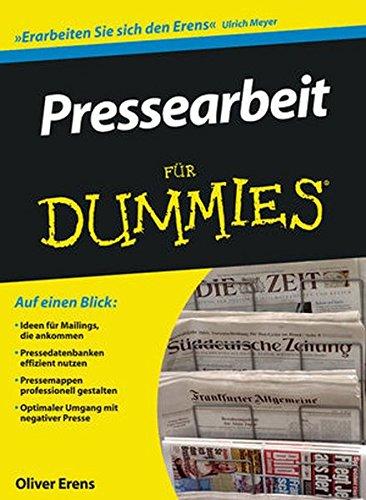 Pressearbeit für Dummies