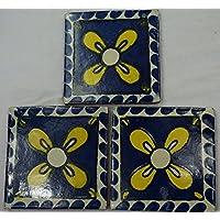 Talavera messicano per piastrelle in ceramica, dipinta a mano, in piastrelle ref.R43 Terracotta messicana, 10,5 (Ceramica Talavera)