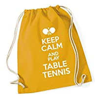 HippoWarehouse Keep Calm and Play Table Tennis Drawstring Cotton School Gym Kid Bag Sack 37cm x 46cm, 12 litres
