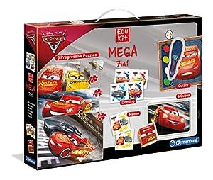 Clementoni-11942-edukit Mega 7en 1-Cars 3-jeu Educativo