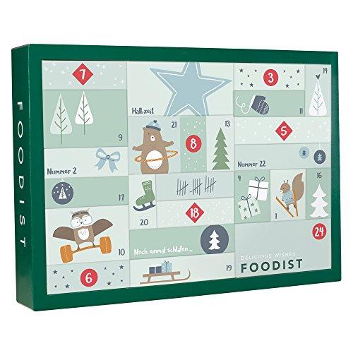 Veganer Foodist Active Adventskalender mit 24 gesunden Snacks, Leckereien und Superfoods von unabhängigen Manufakturen aus ganz Europa