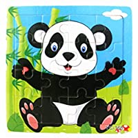 Buyby_Babys&Toy Wooden Puzzle,♣Buyby toys,16 Pieces Babys Jigsaw Puzzle Toys (Panda)
