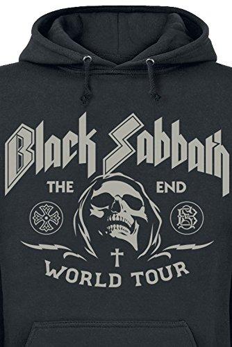 Black Sabbath The End Grim Reaper Kapuzenpulli schwarz Schwarz