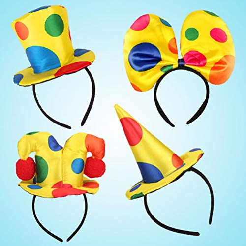 Clown Kostüm Hat - Lurrose Polka Dot Kostüm Clown Hat Haarband Headband für Theme Party Woman Circus Adult Kostüm Fancy Haarband