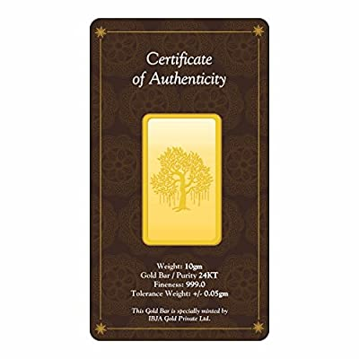 IBJA Gold 20 Gm, 24K (999) Yellow Gold Precious Bar
