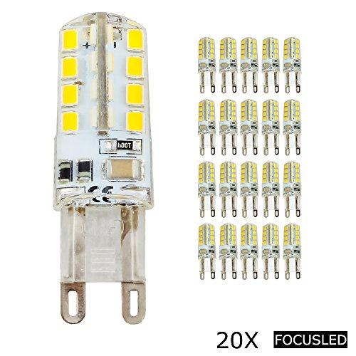 Focusled® 20 Stücke G9 LED Lampe AC:200-240V - 32X2835 SMD Leds 2.5W - Warmweiß - 200-220LM LED Leuchtmittel - 360Abstrahlwinkel