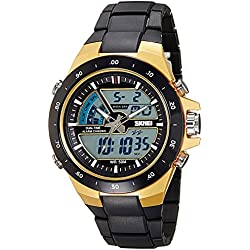 Skmei Analog-Digital Multi-Colour Dial Unisex Watch - 1016BBGO