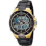 Skmei Analog-Digital Multi-Colour Dial Unisex Watch - 1016BBGO