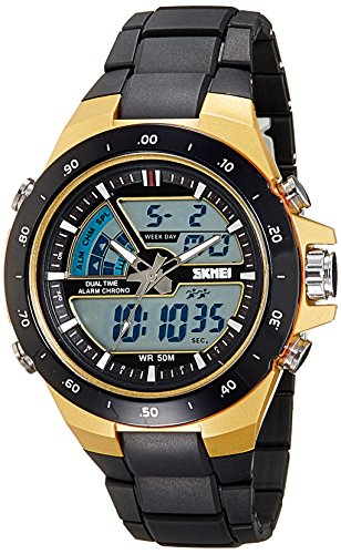 Skmei Analog-Digital Multi-Colour Dial Unisex's Watch-1016BBGO