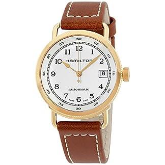 Hamilton Plata Reloj de Mujer, Correa de Piel Color marrón Reloj h78205553