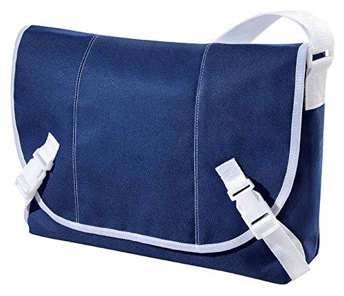 HALFAR-Borsa a tracolla, studente besace-1807779, unisex Grigio antracite - blu